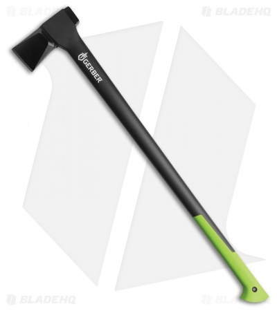 "Gerber 36"" Power Splitting Axe Black/Green Glass Filled Nylon (31-003636)"