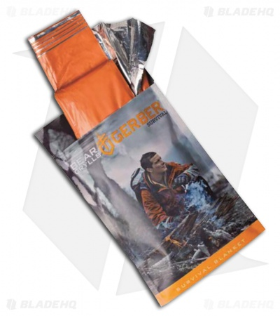 "Gerber Bear Grylls Survival Poncho Bright Orange (40"" x 21"")"