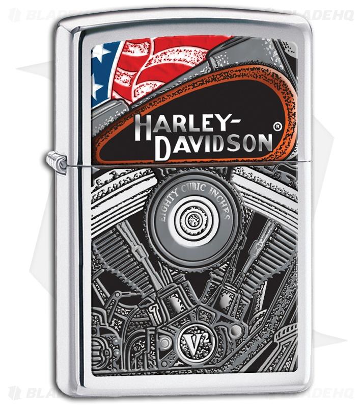 Zippo Lighter - Harley Davidson Engine 28081 - Blade HQ