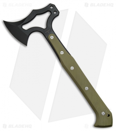 "Hogue Knives 14"" EX-T01 Tomahawk Axe OD Green G-10"