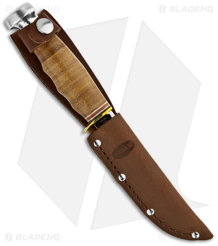 Ka-Bar Hunter Knife Leather Handled Fixed Blade (4