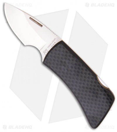 "Katz Bobcat Carbon Fiber Money Clip Folding Knife (2.25"" Satin Plain) MC-CF"