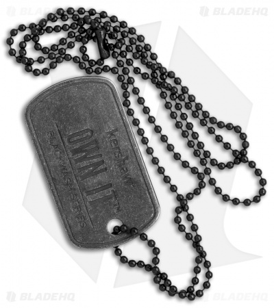 Kershaw Mini Pocket Tool and Dog Tag Chain - Black Stonewash