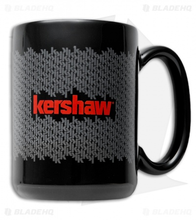 Kershaw Knives Black Mug w/ K-Texture