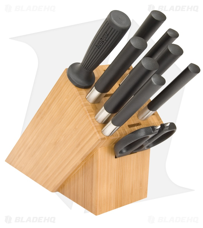 Kai Wasabi Black Knife Set W Wood Block 10 Piece