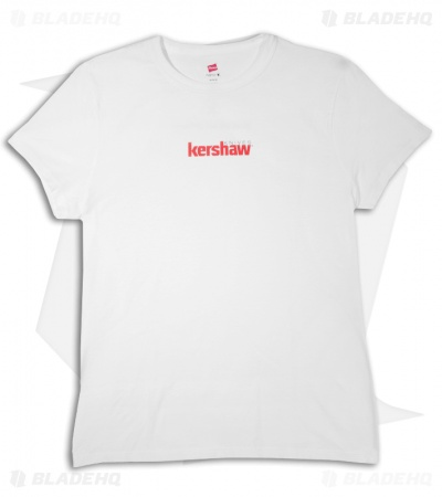 Kershaw Knives Carry Woman's White T-Shirt w/ Logo