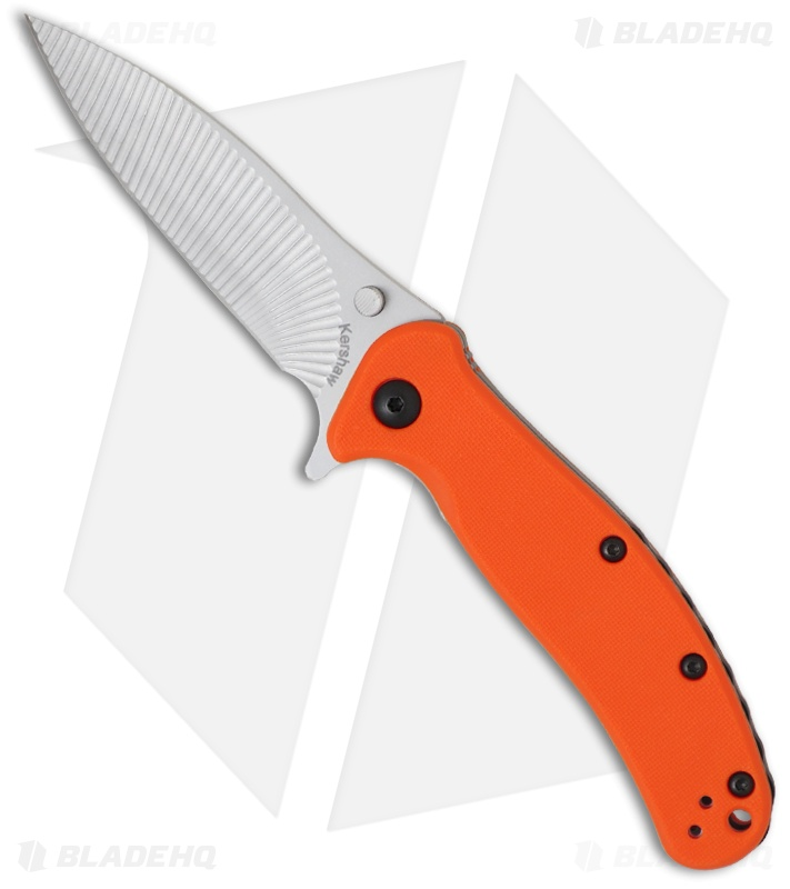 "Kershaw Zing Liner Lock Knife Orange (3"" Bead Blast) 1735OR"