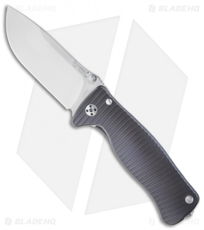 "LionSteel SR2-Ti Violet Titanium Folding Knife (3.125"" Satin Plain)"