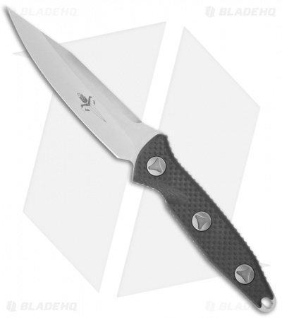 "Marfione Custom Socom Alpha Clip Point Fixed Blade Carbon Fiber (5"" Stonewash)"