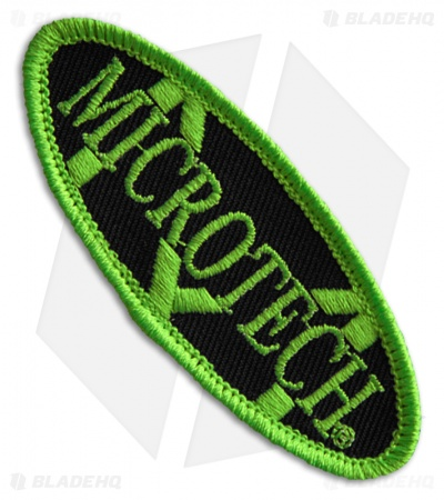 Microtech Knives Logo Hook & Loop Velcro Patch (Zombie Green)