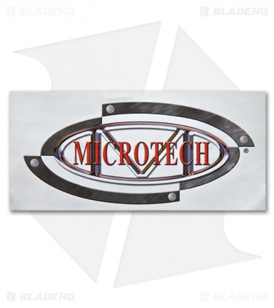 "Microtech Knives Logo Decal Sticker (4"" x 2"")"