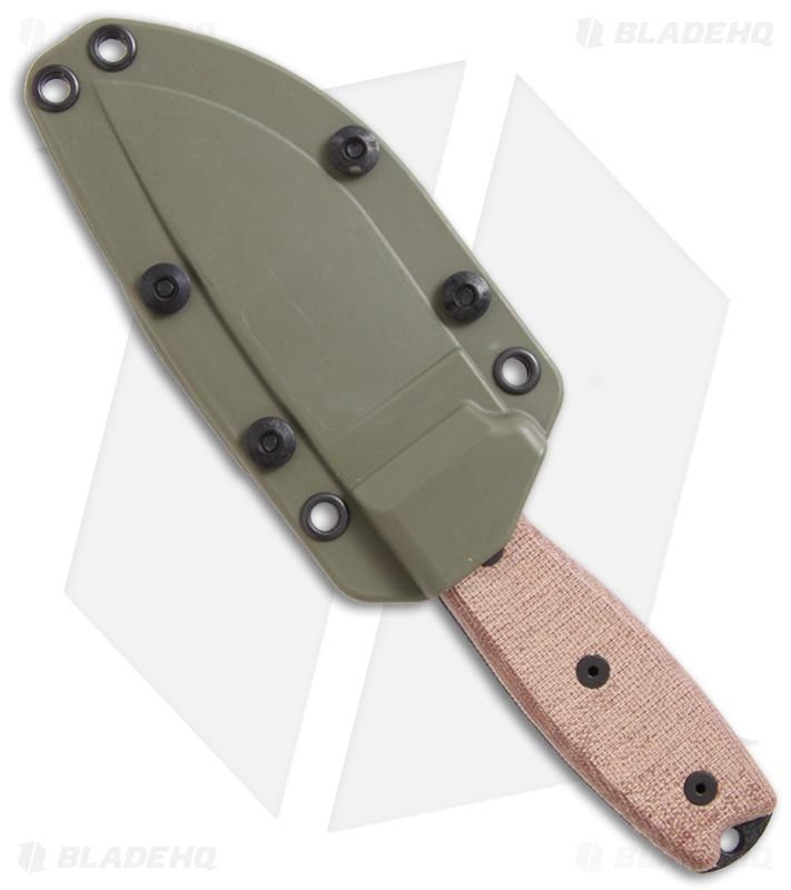 Ontario RAT-3 Knife Fixed Blade 1095 Steel W/ Green Sheath