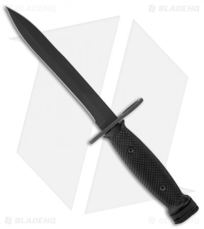 "Ontario 494 M-7 Bayonet Fixed Blade Knife & Scabbard (6.6"" Black) 8185"