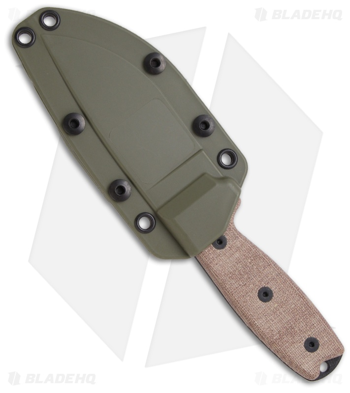 Ontario Rat 5 Sheath: Ontario RAT-3 Knife Fixed Blade 1095 Steel W/ Green Sheath