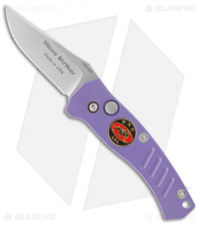 "Randall King Micro Striker Purple Automatic Knife (2"" Bead Blast Plain)"