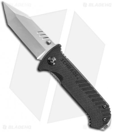 "Schrade SCH102 Tanto Folding Knife (3"" Bead Blast Plain)"