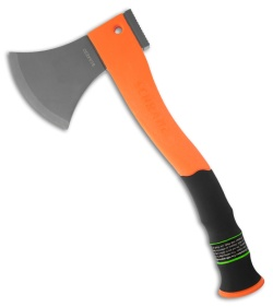 Schrade SCAXE2O Extreme Survival Small Axe Orange Fire Starter & Hammer Head