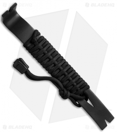 Schrade Pry Bar Black Stainless Steel Black Paracord SCHPB1BK