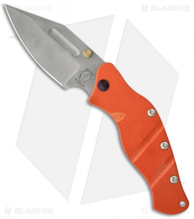 "Sniper Bladeworks LPC Framelock Folder Orange w/ Gold Thumb Stud (3.75"" Plain)"