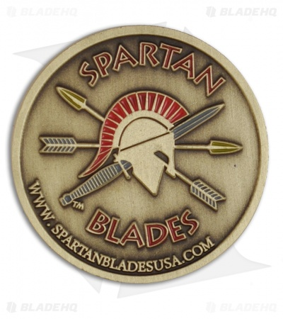 Spartan Blades Honor / Challenge Coin (Antiqued Brass) SC1