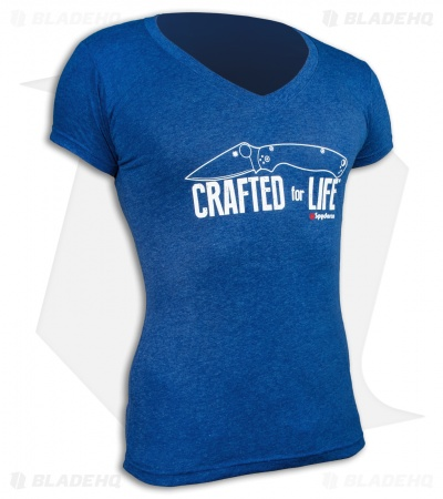 Spyderco Crafted For Life Women's Royal Blue Short Sleeve T-Shirt