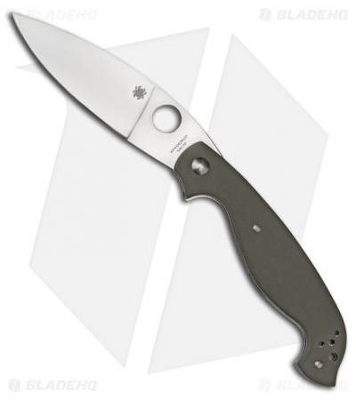 Spyderco Barong by Ed Schempp Folding Knife Green G-10 (Plain) C124GPFG