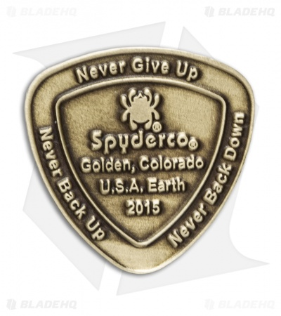 Spyderco Commemorative Brass Coin 2015