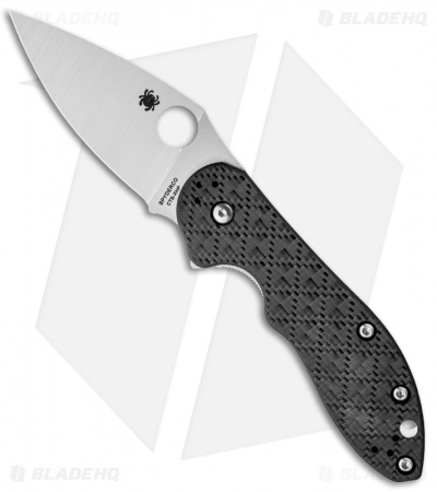 "Spyderco Domino Glass Weave G-10 Flipper Knife (3.1"" Satin) C172CFTIP"
