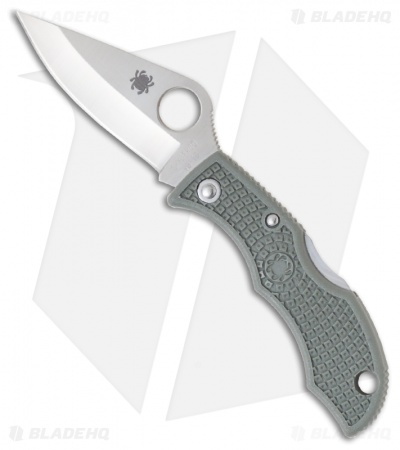 "Spyderco Ladybug 3 Knife Foliage Green FRN (1.94"" Satin Plain) LFGP3"