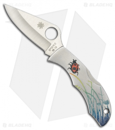"Spyderco Ladybug 3 Tattoo Knife Stainless Steel (1.94"" Satin) LSSP3T"