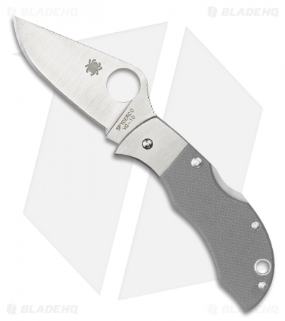 "Spyderco Manbug Folding Knife (1.88"" Satin) MGGYP"