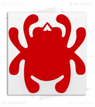 Spyderco Bug Mirror Decal (Red)