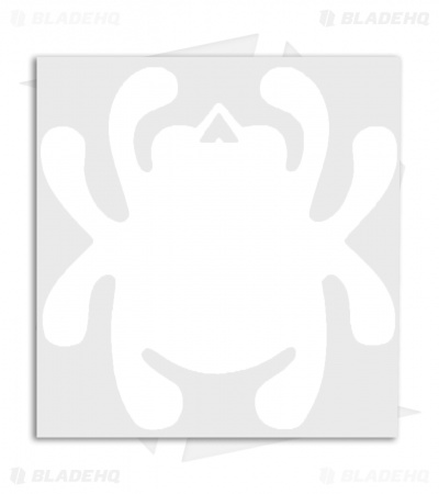 Spyderco Bug Mirror Decal (White)