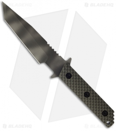 "Strider WB MOD 10 Tanto Knife w/ OD Gunner Grip (3.25"" Tiger Stripe)"