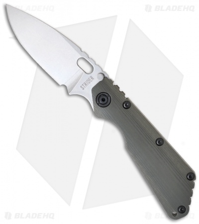 "Strider Knives SMF-CC Knife Green G-10 (3.9"" Stonewash)"