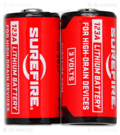 Surefire Premium Lithium CR123A Batteries for High-Drain Devices Two Pack (2)