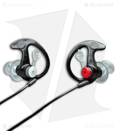 SureFire EarPro 3 Sonic Defenders Earpiece EP3 Filtered (Black, Large)