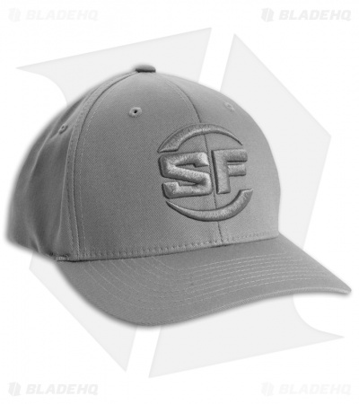 Surefire FlexFit Grey Hat/Ball Cap w/Silve Stitched Logo