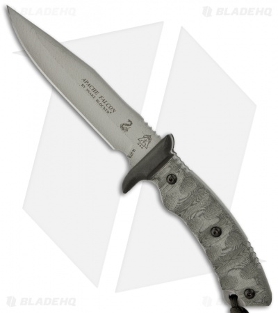 "TOPS Knives Apache Falcon Knife Fixed Blade (6.25"" Grey Plain) AFAL-01"
