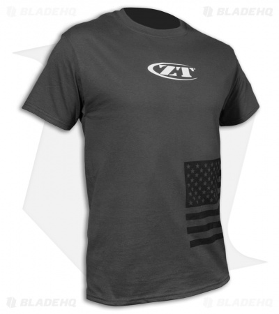 Zero Tolerance U.S. Flag Charcoal  Short Sleeve T-Shirt