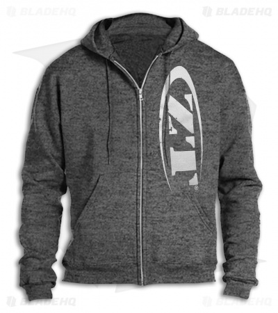 Zero Tolerance Heather Gray Zippered Hoodie w/ ZT Logo