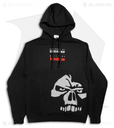 "Emerson-Kershaw Hoodie w/ Logo, ""Emerson Built"" & Skull Graphic (Black)"
