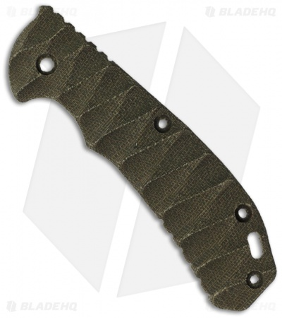 Zero Tolerance 0560 OD Green Canvas Micarta Replacement Scale by The Preacher