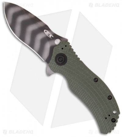 "Zero Tolerance 0301 Strider Onion Knife Ranger Green (3.75"" Tiger Stripe) ZT"