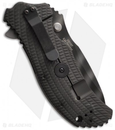 "Zero Tolerance 0301ST Assisted Opening Knife Green (3.75"" Tiger Stripe Serr)"