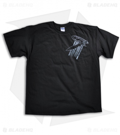 Zero Tolerance Knives Serious Missions, Serious Knives Black T-Shirt