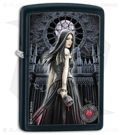 Zippo Lighter Black Matte Anne Stokes Collection 5 28858