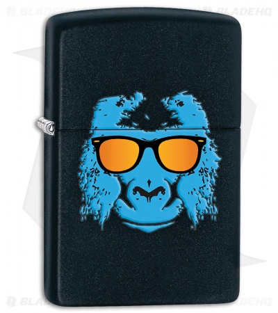 Zippo Lighter Ape with Shades Black 28861