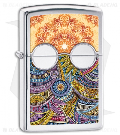 Zippo Lighter Polished Chrome Boho 2 28871
