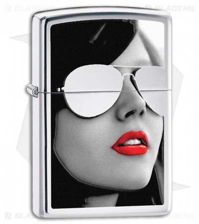 Zippo Lighter Polished Chrome Bs Sunglasses 28274